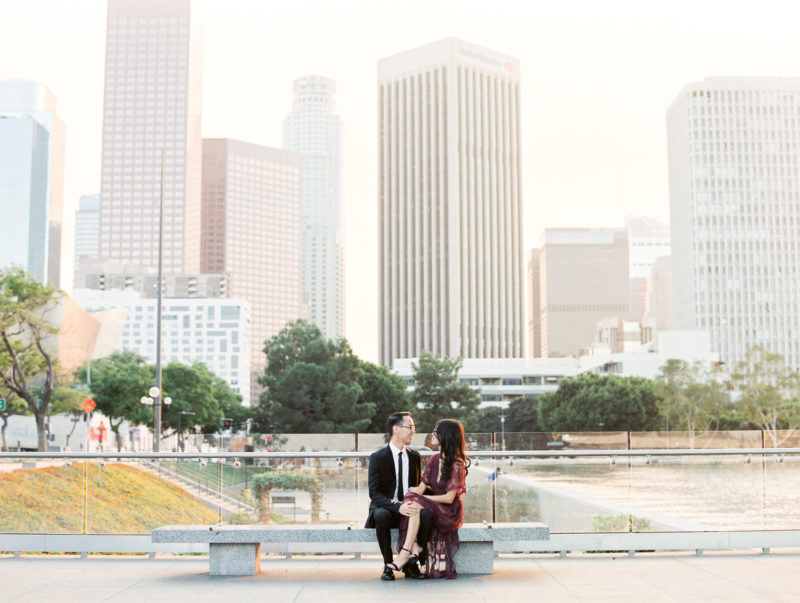 los angeles wedding photographer, la engagement session